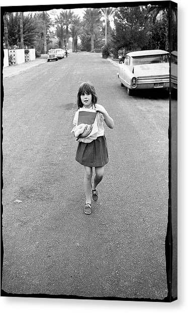 Girl On 13th Street, 1971 Canvas Print