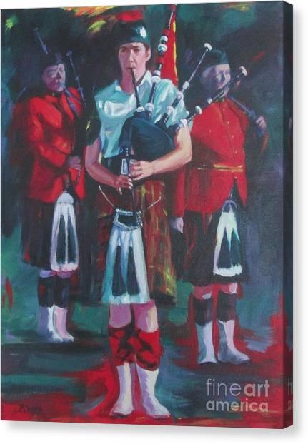 Girl Piper Canvas Print