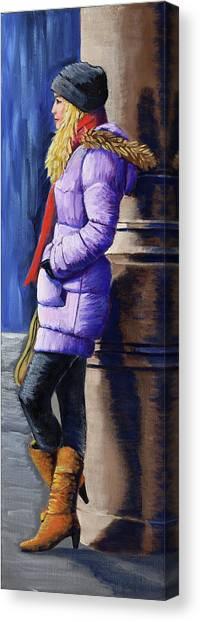 Girl Waiting Canvas Print