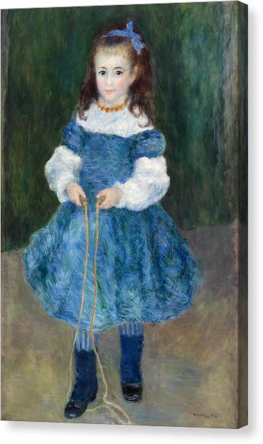 Jump Rope Canvas Print - Girl With A Jump Rope by Pierre-Auguste Renoir