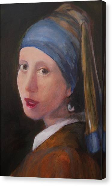 Girl With A Pearl Earring - Reproduction Canvas Print by Lisa Konkol