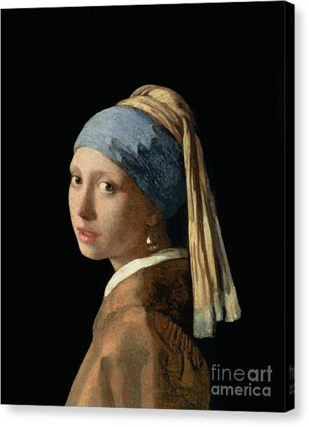 Oil Canvas Print - Girl With A Pearl Earring by Jan Vermeer