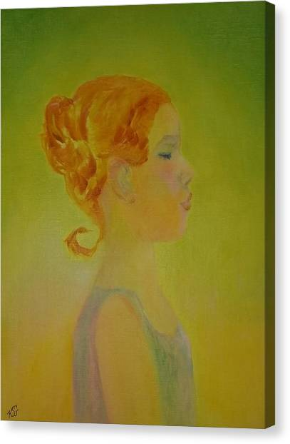 The Girl With The Curl Canvas Print