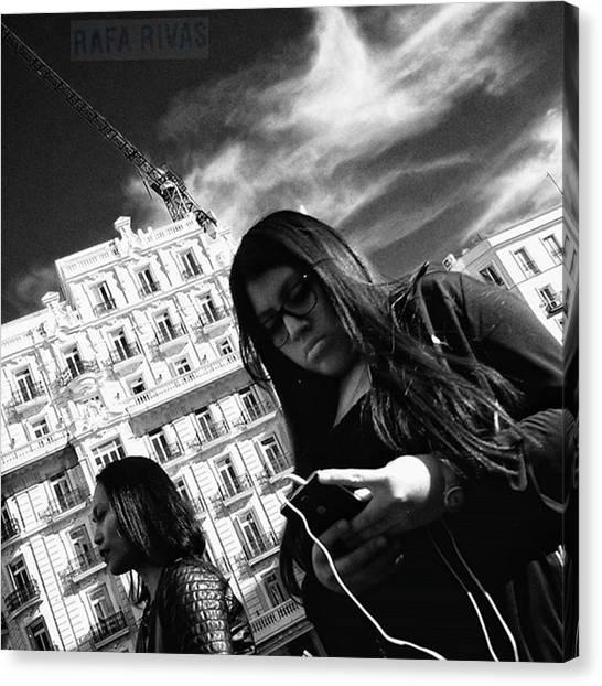 Girl Canvas Print - #girl #woman #people #instapeople by Rafa Rivas