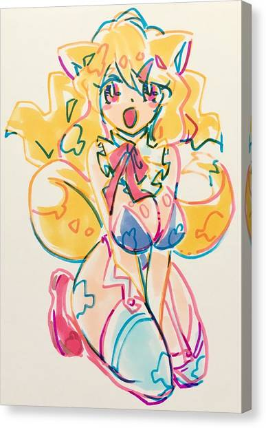 Pop Art Canvas Print - Girl03 by Kirin Yotsuya
