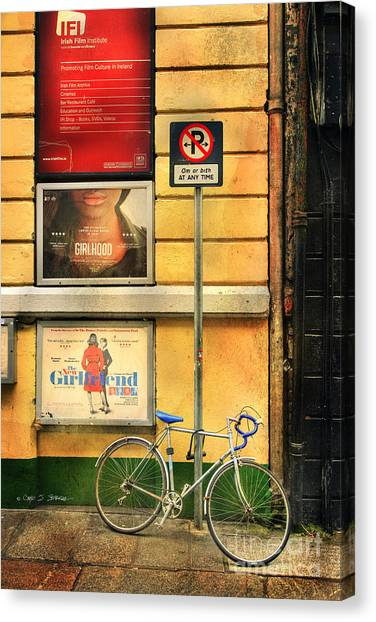 Girlfriend Bicycle Canvas Print