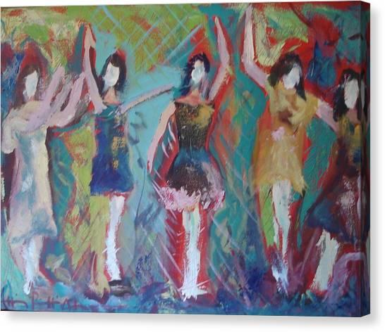 Bachelorette Canvas Print - Girlfriends 1 by Allison  Adams