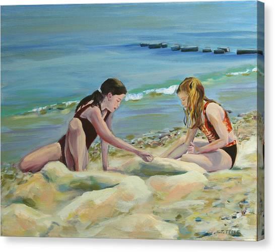 Girls At Oak Bluffs Canvas Print