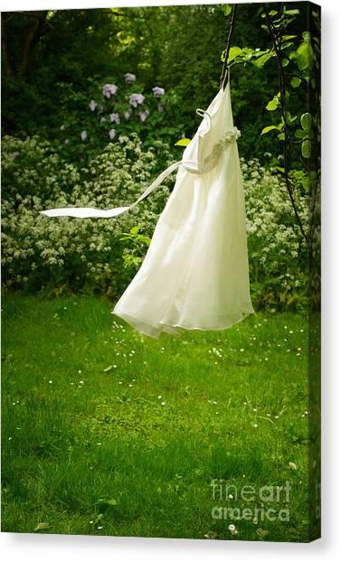 Lilac Bush Canvas Print - Girls Dress by Amanda Elwell