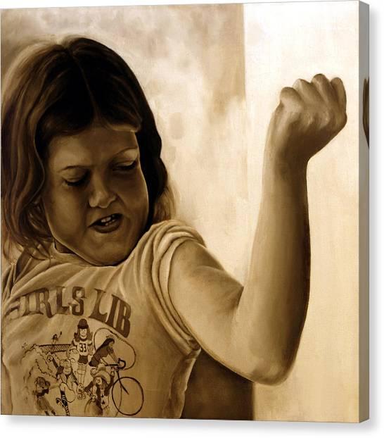 Girl's Lib Canvas Print by Anni Adkins