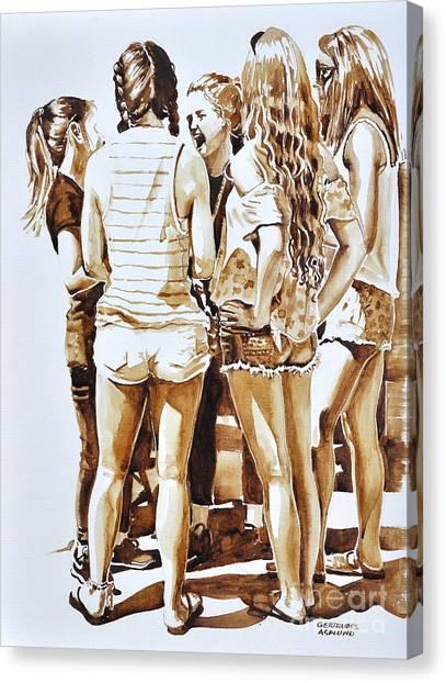 Girls Summer Fun Canvas Print