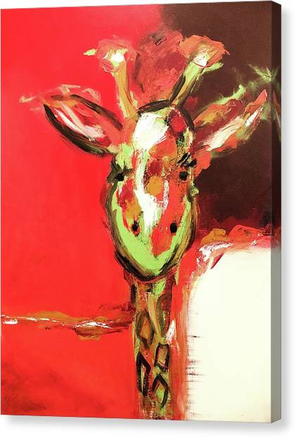 Giselle The Giraffe Canvas Print
