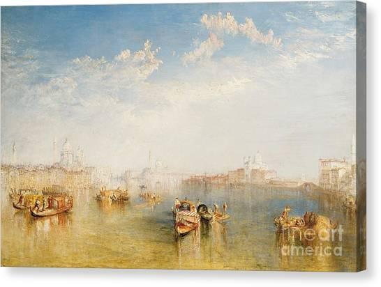 Sail Boats Canvas Print - Giudecca La Donna Della Salute And San Giorgio  by Joseph Mallord William Turner