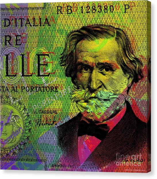 Giuseppe Verdi Portrait Banknote Canvas Print