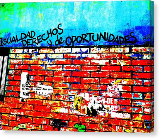 Give Us Equal Rights And Opportunities ...on Santiago Walls Canvas Print