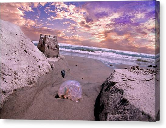 Sand Castles Canvas Print - Giving And Taking by Betsy Knapp