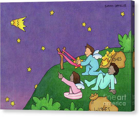 Shooting Stars Canvas Print - Giving Wishes Wings by Sarah Batalka