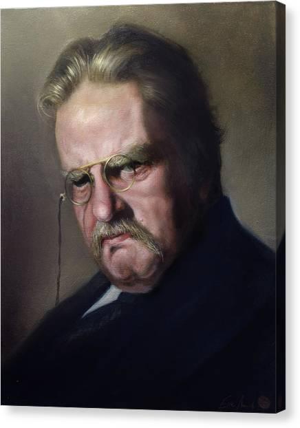G.k. Chesterton Canvas Print by Eric  Armusik