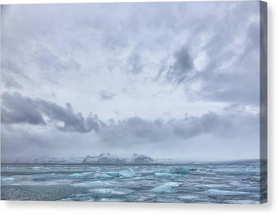 Glacial Lagoon Iceland Canvas Print