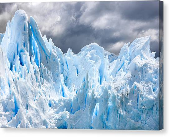 Perito Moreno Glacier Canvas Print - Glacial Majesty by Carl Amoth