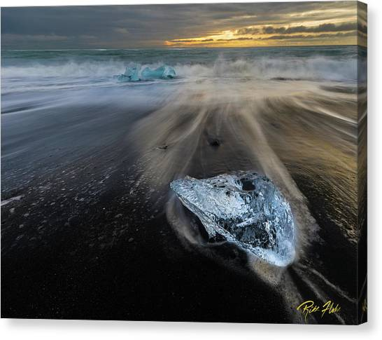 Canvas Print featuring the photograph Glacial Shard by Rikk Flohr