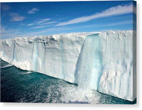 Star Wars Canvas Print - Glacial Waterfalls  by Andy Bucaille