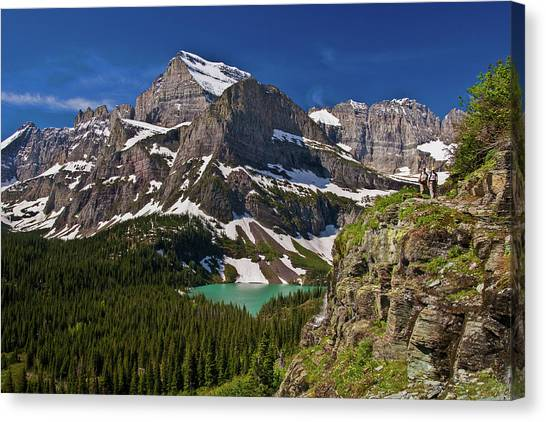 Canvas Print featuring the photograph Glacier Backcountry 2 by Gary Lengyel