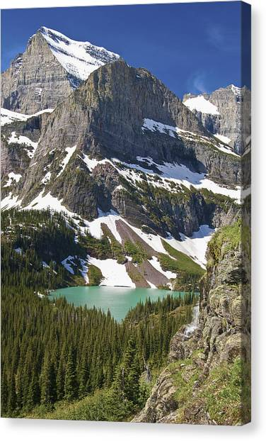 Canvas Print featuring the photograph Glacier Backcountry by Gary Lengyel