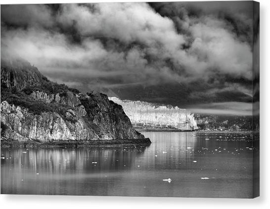 Glacier Bay Alaska In Bw Canvas Print