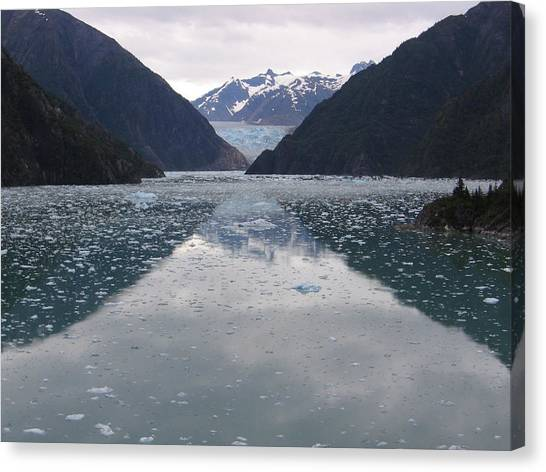 Glacier Blues Canvas Print