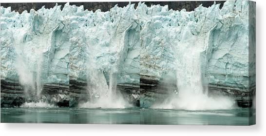 Glacier Calving Sequence 1 Canvas Print