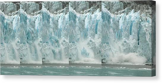 Glacier Calving Sequence 2 V1 Canvas Print