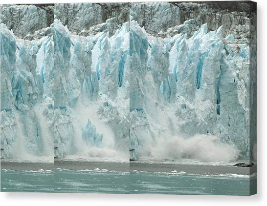 Glacier Calving Sequence 2 V2 Canvas Print