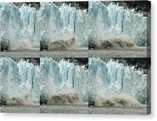 Glacier Calving Sequence 3 Canvas Print