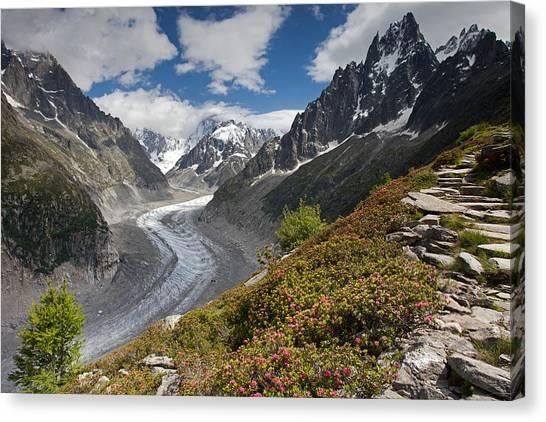 Glacier De La Mer De Glace Canvas Print
