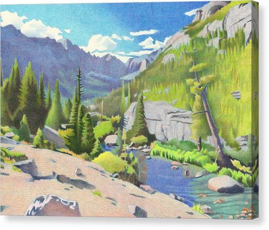 Glacier Gorge Canvas Print