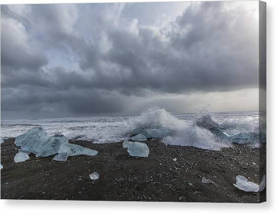 Glacier Ice 2 Canvas Print