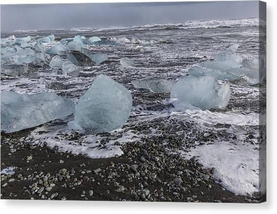 Vatnajokull Glacier Canvas Print - Glacier Ice 3 by Kathy Adams Clark