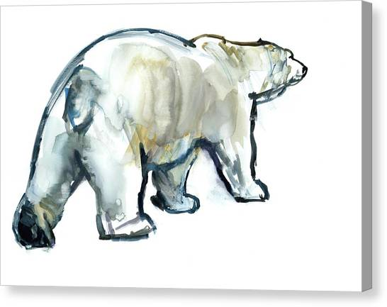 Bears Canvas Print - Glacier Mint by Mark Adlington