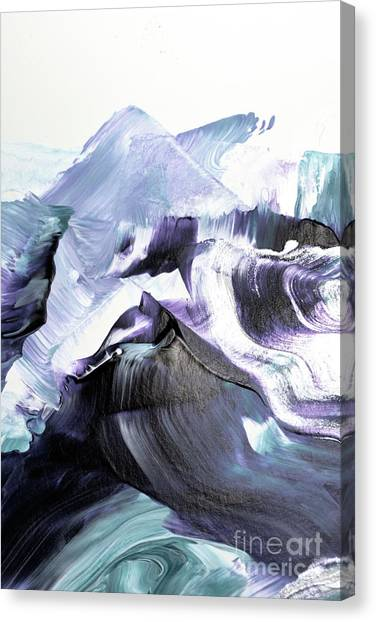 Waves Canvas Print - Glacier Mountains by PrintsProject