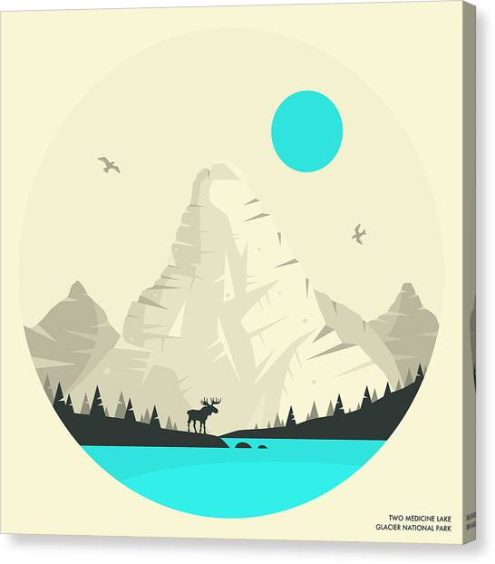 Medicine Canvas Print - Glacier National Park - 2 by Jazzberry Blue