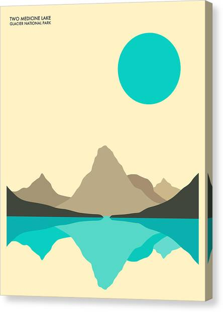 Glaciers Canvas Print - Glacier National Park by Jazzberry Blue