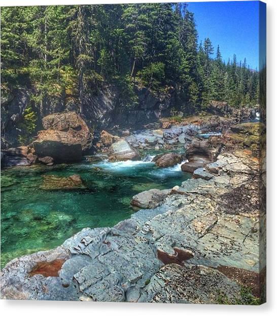 Glacier National Park Canvas Print - #glacier #national #park #montana #usa by David Bugden