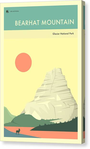 Glacier National Park Canvas Print - Glacier National Park Poster by Jazzberry Blue