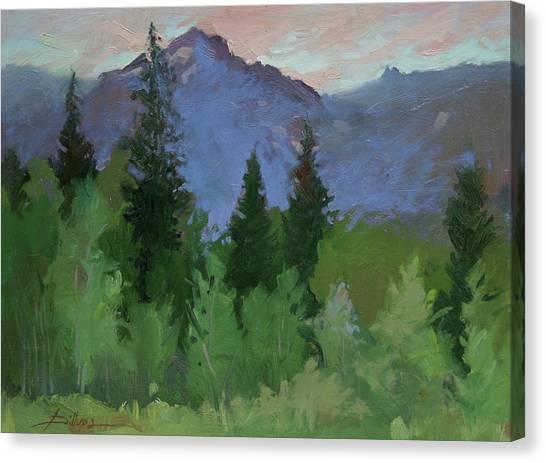 Glacier Nat'l Park - Plein Air -  Rising Wolf Ranch Canvas Print