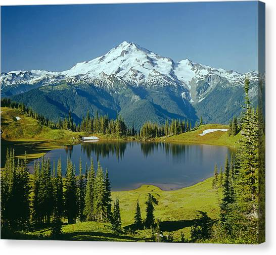 1m4422-glacier Peak, Wa  Canvas Print