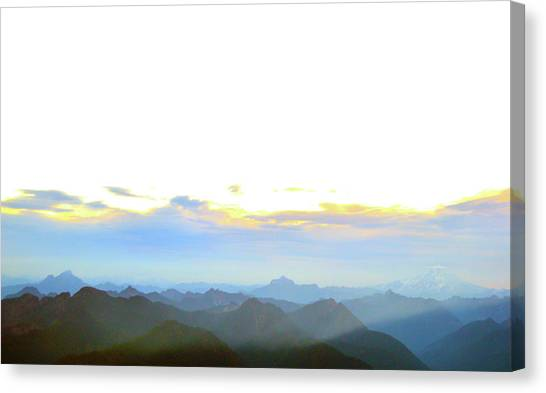 Glacier Peak At Sunrise Canvas Print