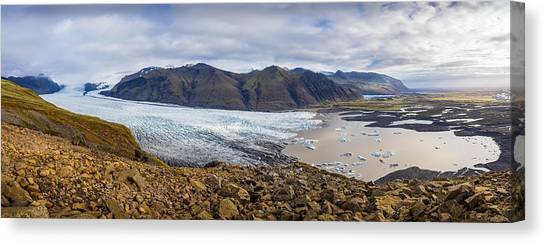 Canvas Print featuring the photograph Glacier View by James Billings