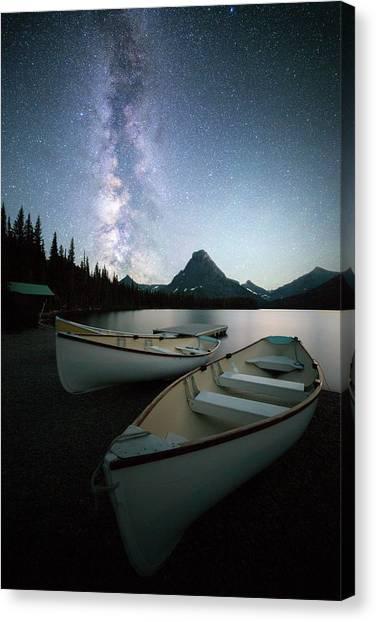 Glacier's Midnight Dream // Two Medicine Lake, Glacier National Park  Canvas Print