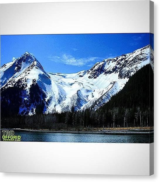Offroading Canvas Print - #glaciers #portageglacier #portage by Pat Weitzner